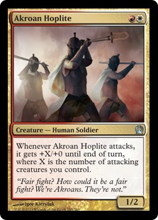 Akroan Hoplite Magic Card