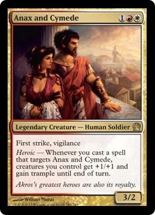 Anax and Cymede Magic Card