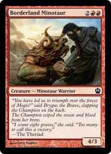 Borderland Minotaur Magic Card