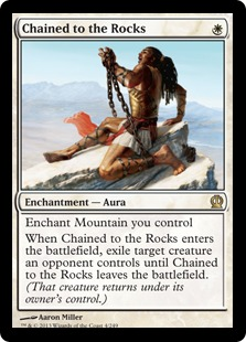 Chained to the Rocks Magic Card