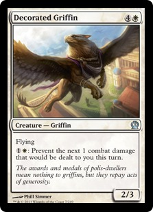 Decorated Griffin Magic Card