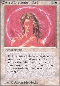Circle of Protection: Red Magic Card