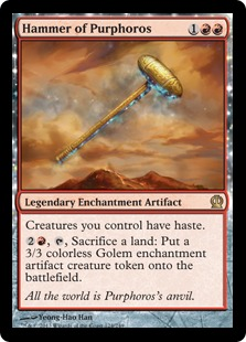 Hammer of Purphoros Magic Card