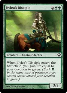 Nylea's Disciple Magic Card