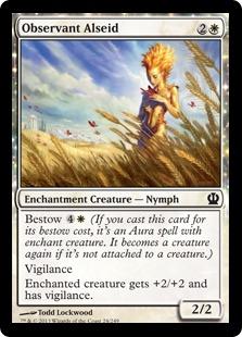 Observant Alseid Magic Card