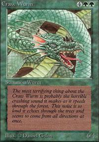 Craw Wurm Magic Card