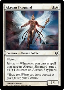 Akroan Skyguard Magic Card