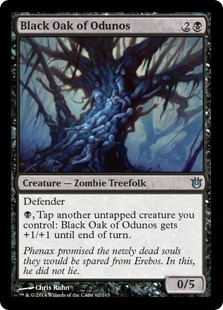 Black Oak of Odunos Magic Card