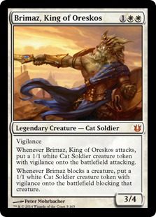 Brimaz, King of Oreskos Magic Card