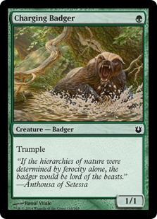 Charging Badger Magic Card