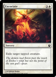 Excoriate Magic Card