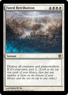Fated Retribution Magic Card