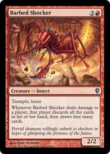 Barbed Shocker Magic Card