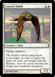 Courier Hawk Magic Card