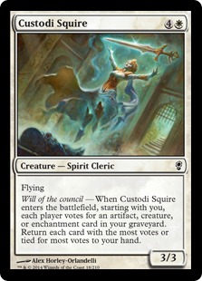 Custodi Squire Magic Card