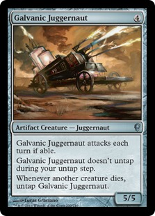 Galvanic Juggernaut Magic Card