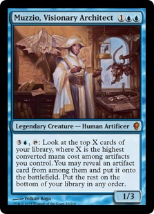Muzzio, Visionary Architect Magic Card