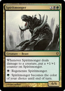 Spiritmonger Magic Card