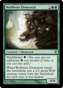 Wolfbriar Elemental Magic Card