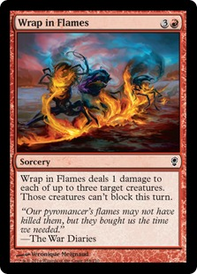 Wrap in Flames Magic Card