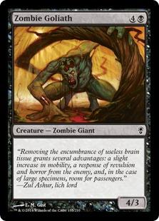 Zombie Goliath Magic Card