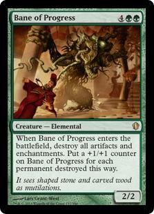 Bane of Progress Magic Card