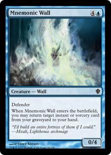Mnemonic Wall Magic Card
