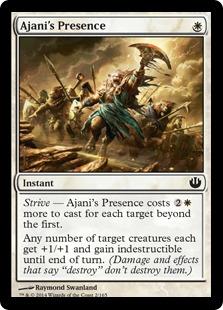 Ajani's Presence Magic Card