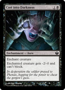 Cast into Darkness Magic Card