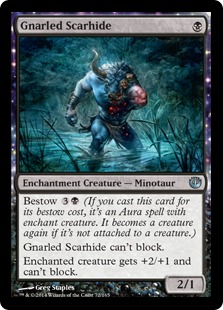 Gnarled Scarhide Magic Card