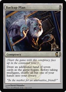 Backup Plan Magic Card
