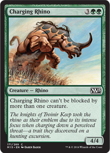 Charging Rhino Magic Card