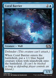 Coral Barrier Magic Card