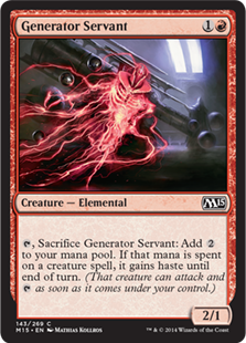 Generator Servant Magic Card