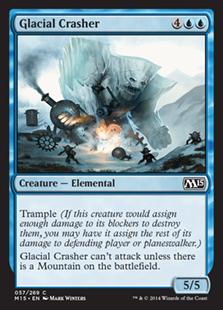 Glacial Crasher Magic Card