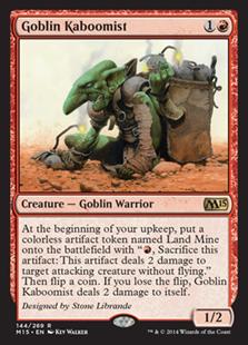 Goblin Kaboomist Magic Card