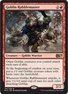 Goblin Rabblemaster Magic Card