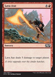 Lava Axe Magic Card