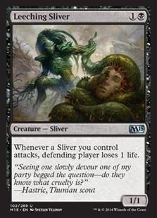 Leeching Sliver Magic Card