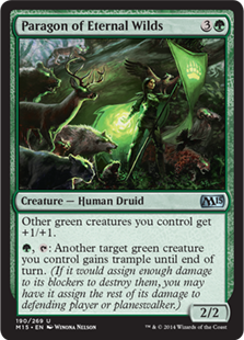 Paragon of Eternal Wilds Magic Card