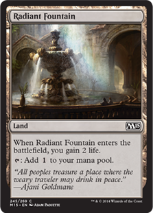 Radiant Fountain Magic Card