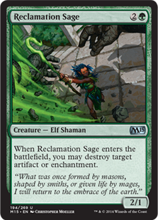 Reclamation Sage Magic Card