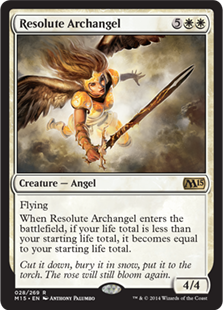 Resolute Archangel Magic Card