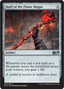 Staff of the Flame Magus Magic Card