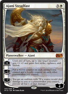 Ajani Steadfast Magic Card