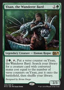 Yisan, the Wanderer Bard Magic Card