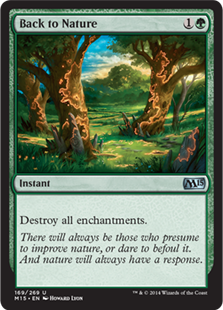 Back to Nature Magic Card