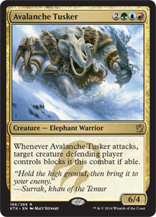 Avalanche Tusker Magic Card
