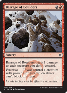 Barrage of Boulders Magic Card