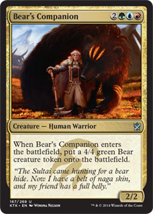 Bear's Companion Magic Card